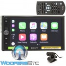 """Sony XAV-AX100 In-Dash 2-DIN 6.4"""" LCD Touchscreen Multimedia Receiver with Apple CarPlay Connectivity"""