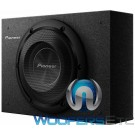 "Pioneer TS-A2000LB 8"" 250W RMS Single Sealed Enclosed Shallow Subwoofer"