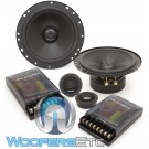 "Gladen ZERO 165 6.5"" 100W RMS Zero Line Series 2-Way Component Speakers System"
