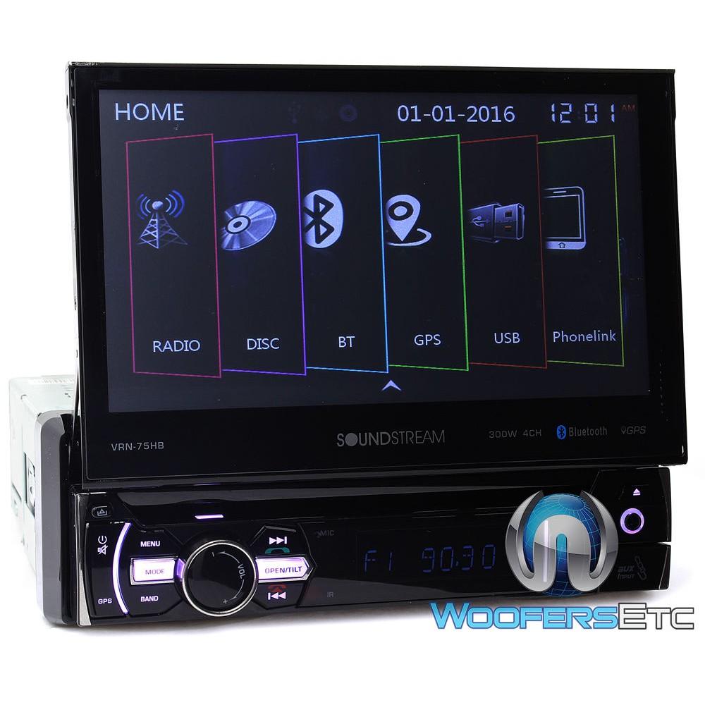 Soundstream VRN-75HB In-Dash 1-DIN 7 Inch DVD Receiver