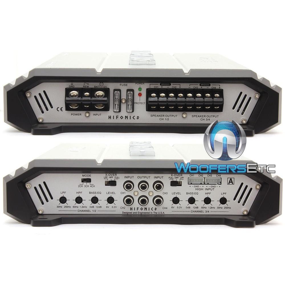 Hifonics ZXX-600.4 600 Watts RMS 4-Channel Zeus Amplifier