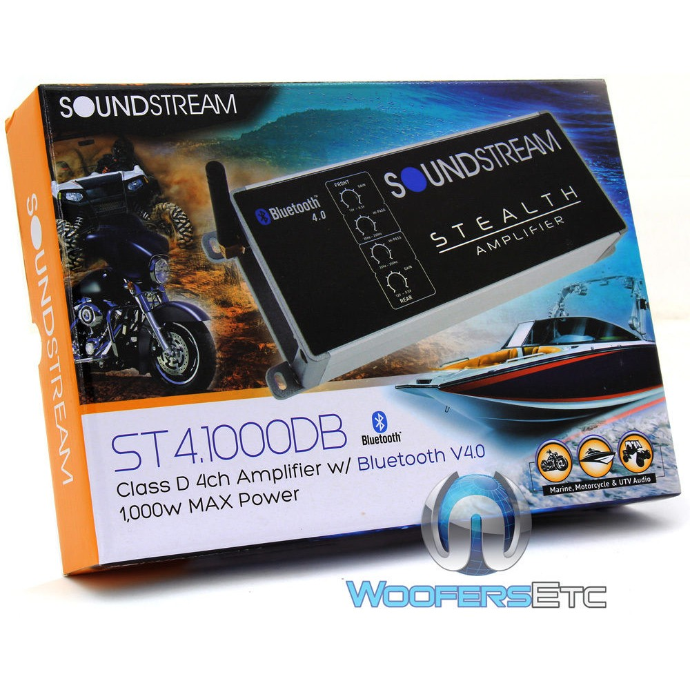 St41000db Soundstream 4 Channel 1000w Max Class D Motorcycle 250 Watt Rms 4channel Car Amplifier Amp Wire Kit Audio Savings Close