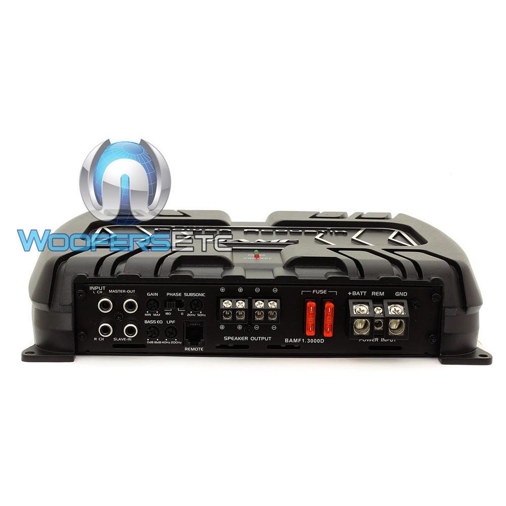 bamf1 3000d power acoustik monoblock 3000w max class d
