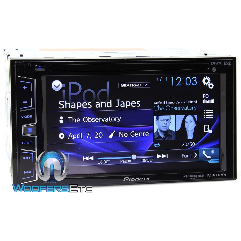 pioneer avh x390bs in dash 2 din 6 2 inch touchscreen dvd. Black Bedroom Furniture Sets. Home Design Ideas
