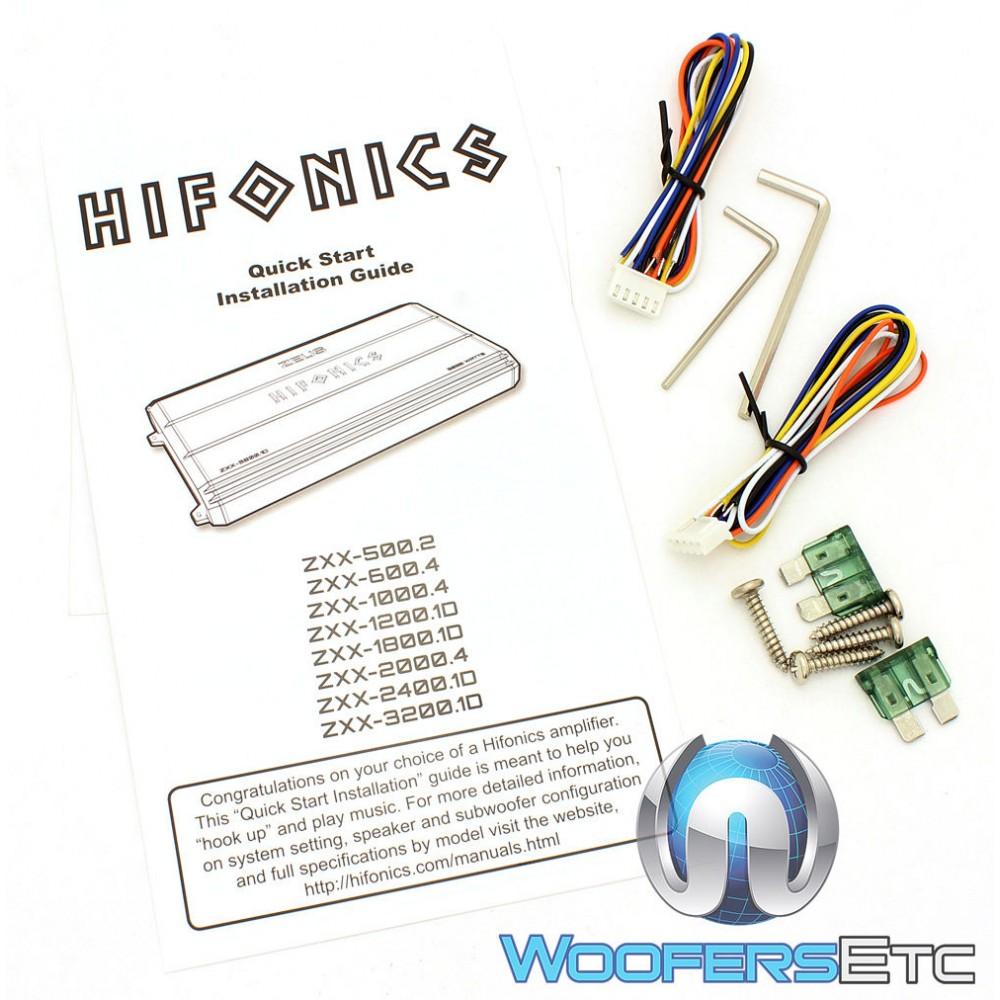 Hifonics Zxx 10004 4 Channel 1000 Watts Rms Series Amplifier Amp Wiring Diagram Close