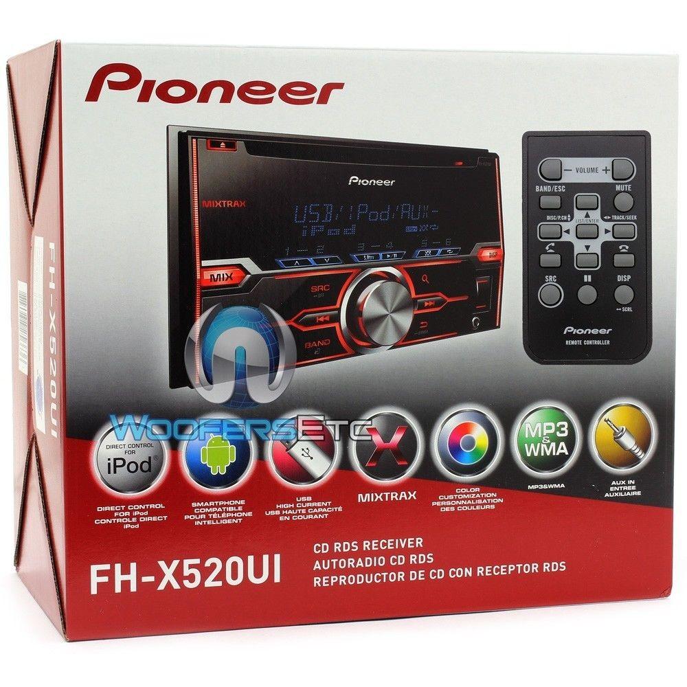 fh xui pioneer  din  dash cdmp stereo receiver  mixtrax