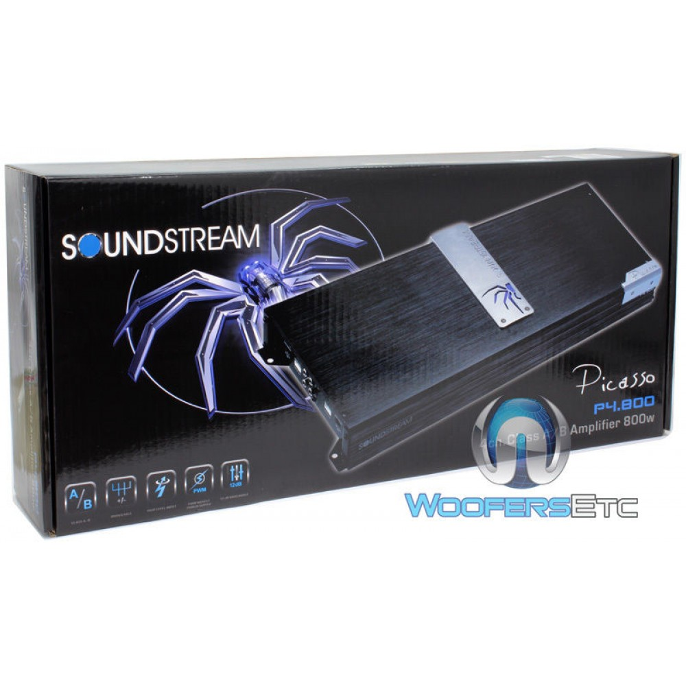 P4 800 Soundstream 4 Channel 800w Class Ab Picasso