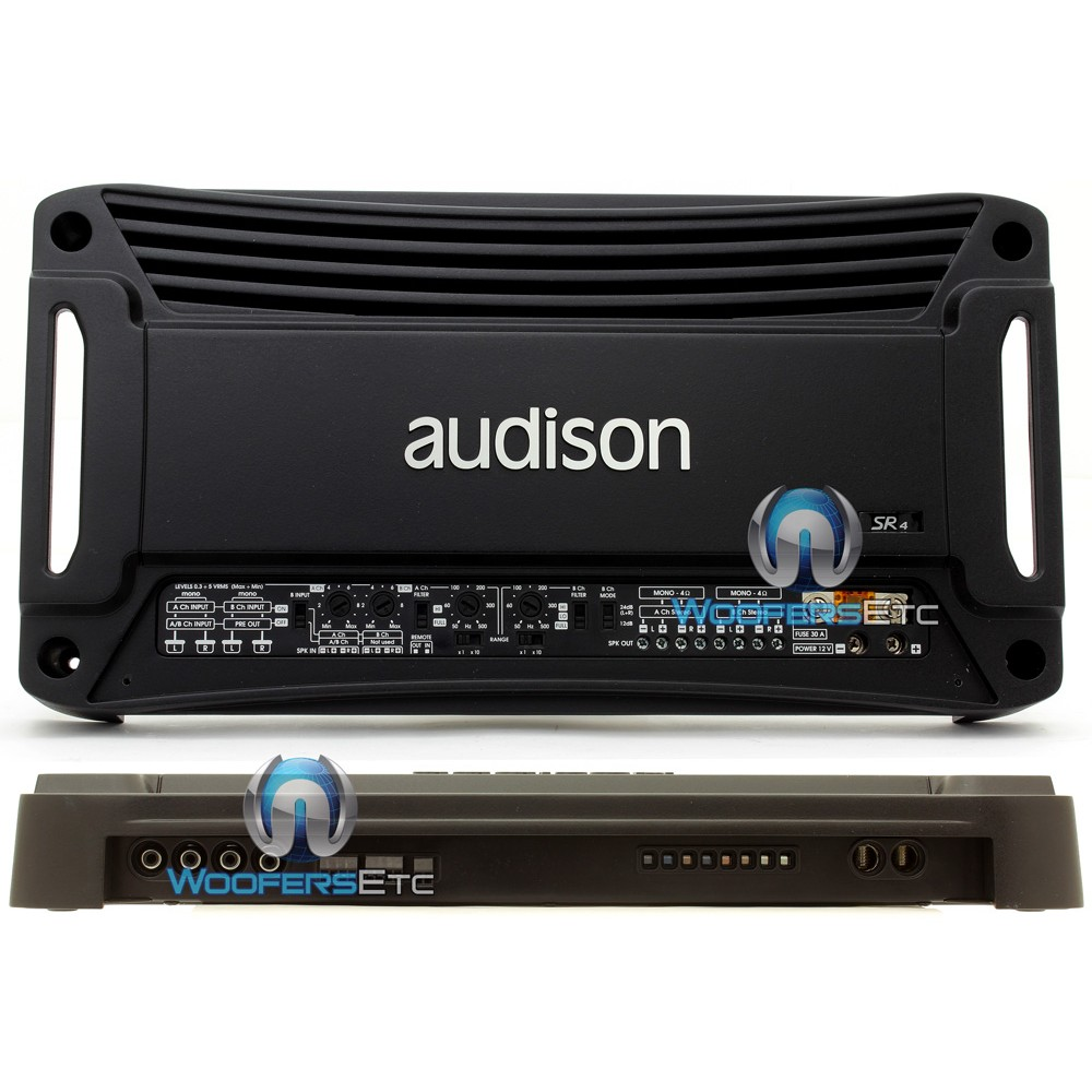 sr4 audison 4 channel 360w power amplifier with crossover. Black Bedroom Furniture Sets. Home Design Ideas