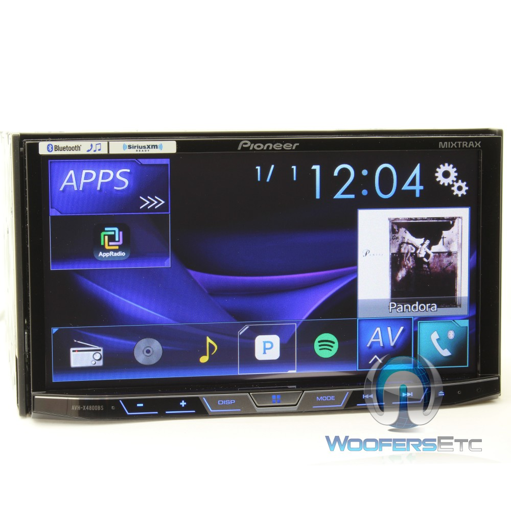 avh x4800bs pioneer 2 din in dash 7 touchscreen lcd. Black Bedroom Furniture Sets. Home Design Ideas