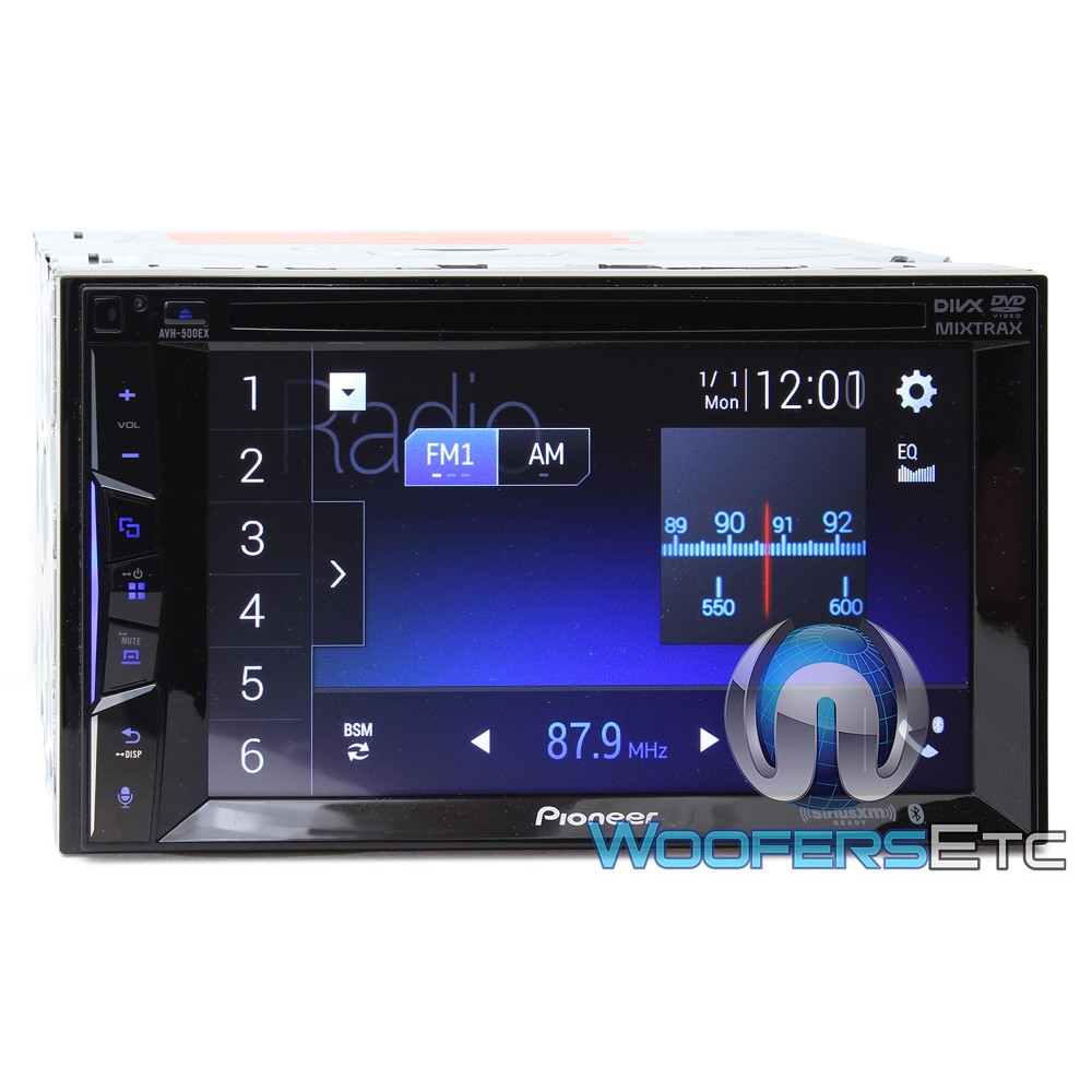 pioneer avh 500ex in dash 2 din 6 2 touchscreen dvd bluetooth sirius xm ready stereo. Black Bedroom Furniture Sets. Home Design Ideas