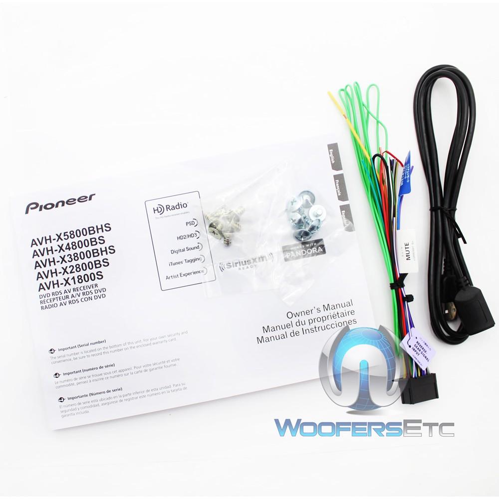 "AVH-X4800BS - Pioneer 2-DIN In-Dash 7"" Touchscreen LCD ..."