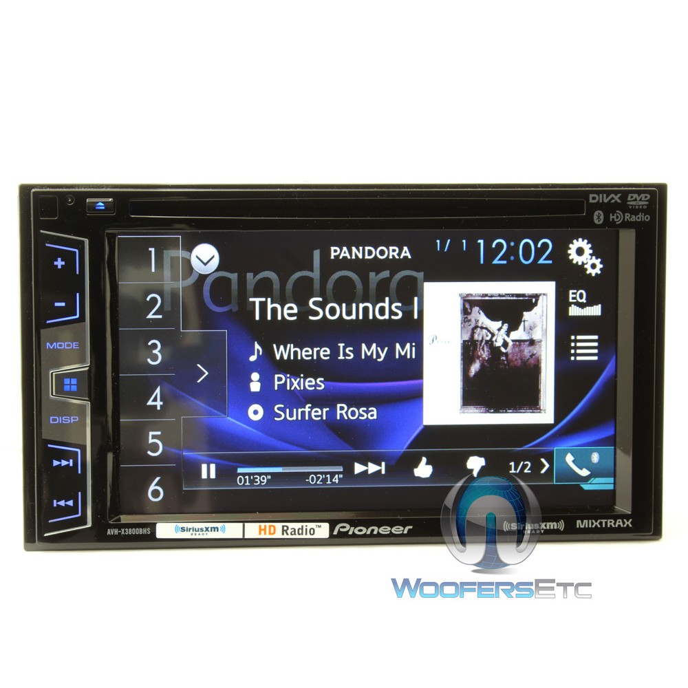 avh x3800bhs pioneer 2 din in dash 6 2 touchscreen lcd. Black Bedroom Furniture Sets. Home Design Ideas