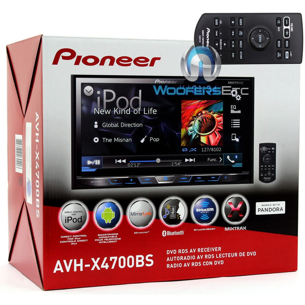 avh x4700bs pioneer 2 din in dash 7 touchscreen lcd display dvd cd stereo receiver with. Black Bedroom Furniture Sets. Home Design Ideas