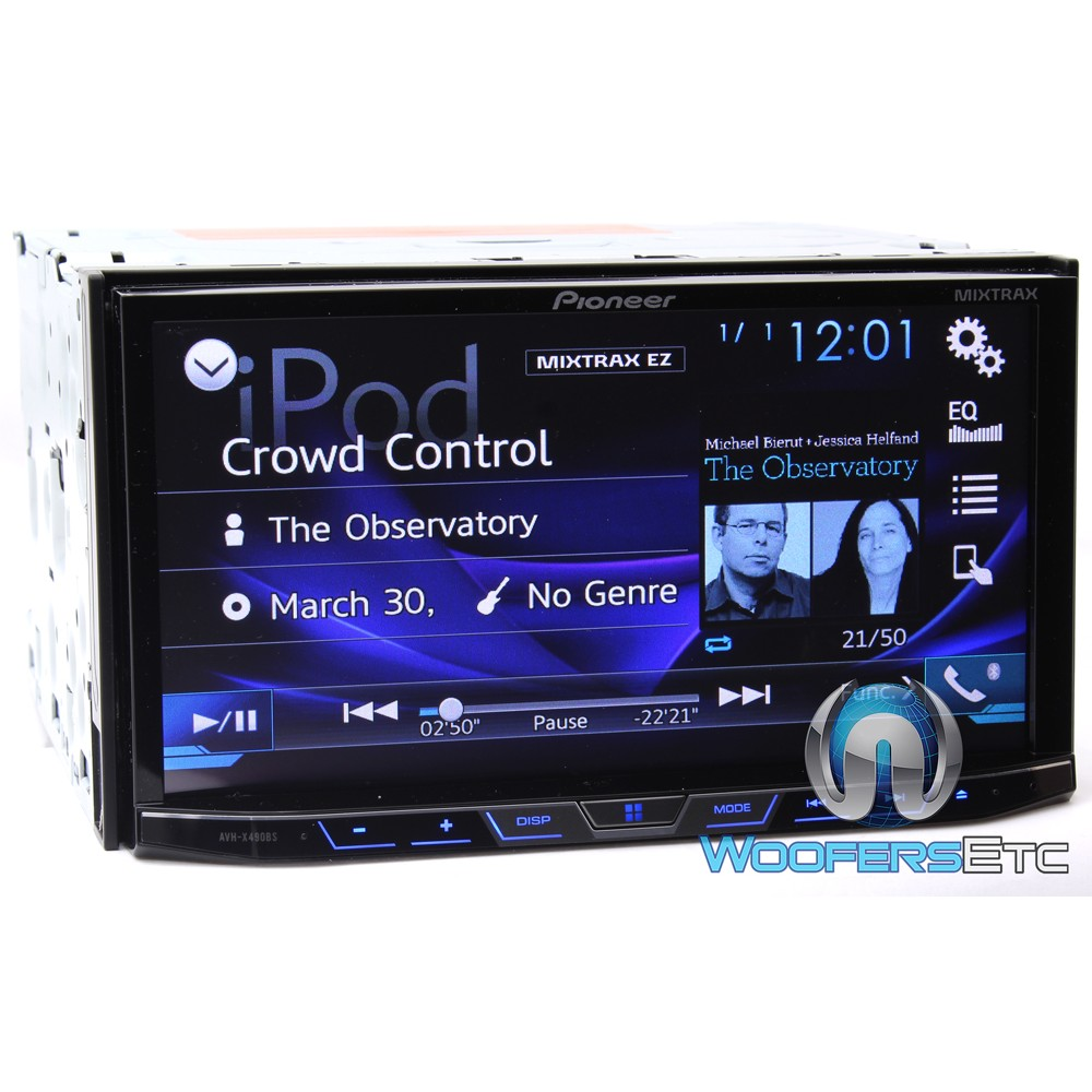 pioneer avh x490bs in dash 2 din 7 touchscreen dvd receiver with bluetooth dvd receivers. Black Bedroom Furniture Sets. Home Design Ideas