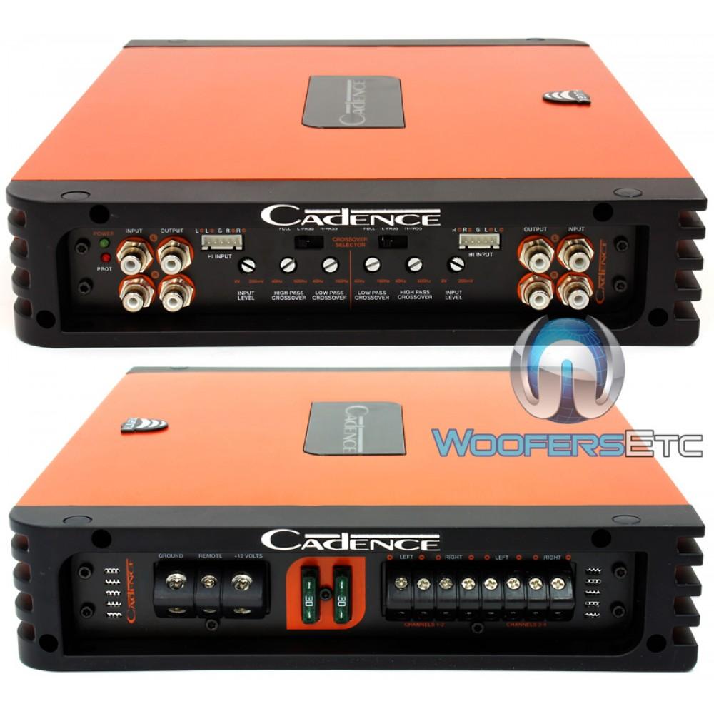 Xah 1254 Cadence 4 Channel 1000 Watt Class Ab Car Amplifier 250 Rms 4channel Amp Wire Kit Audio Savings Close Orange