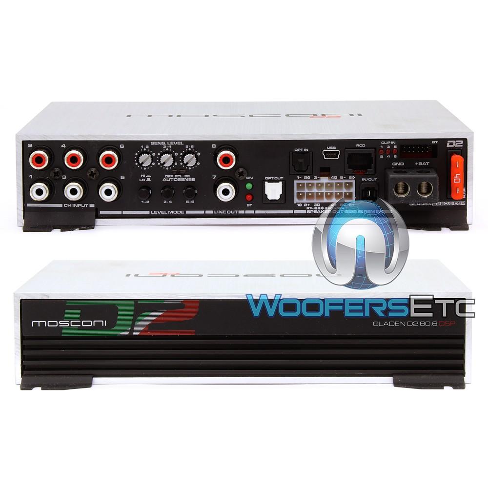 Mosconi Gladen D2 80 6 DSP Mini 6-Channel 3 x 100W D2 Line Series