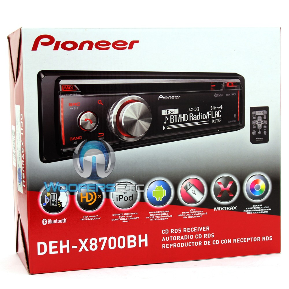 deh x8700bh pioneer in dash 1 din cd mp3 stereo receiver. Black Bedroom Furniture Sets. Home Design Ideas