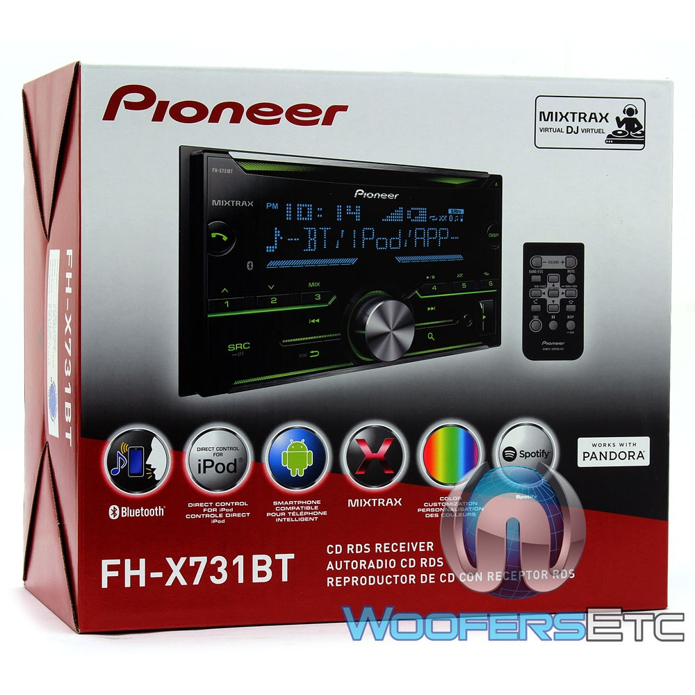 Pioneer FH-X731BT In-Dash 2-DIN CD Stereo Receiver With