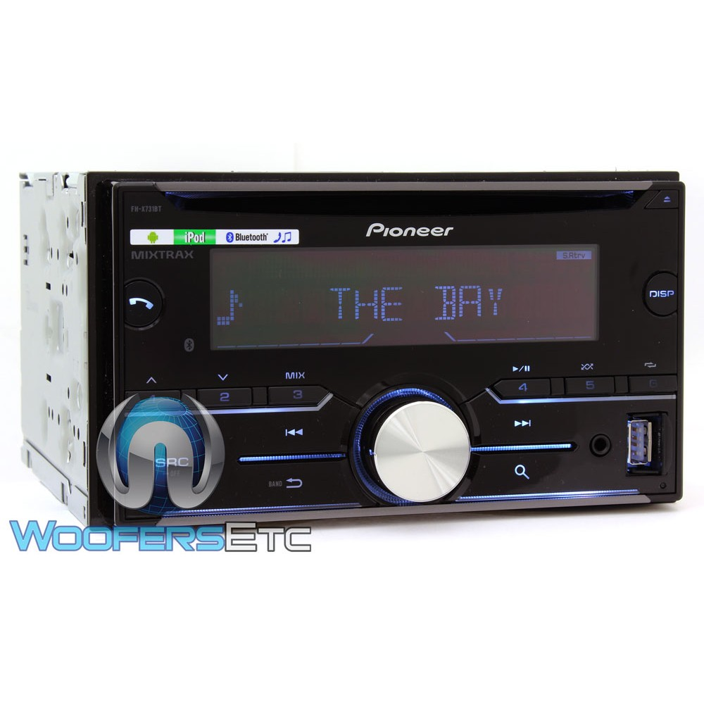 pioneer fh x731bt in dash 2 din cd stereo receiver with bluetooth. Black Bedroom Furniture Sets. Home Design Ideas