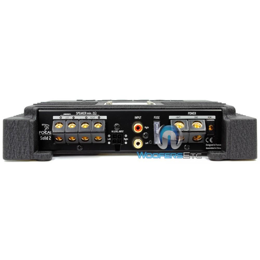 Solid2 - Focal 2 Ch 200 Watt Amplifier (Black) on
