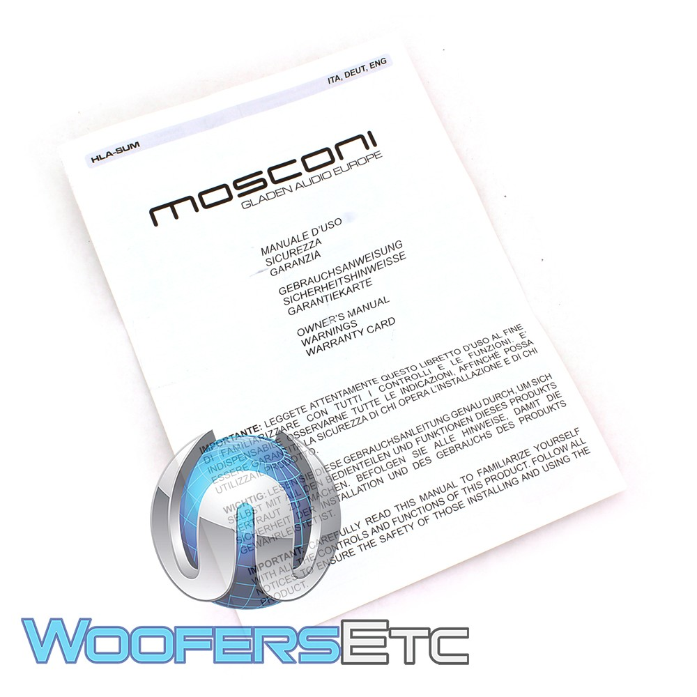 Mosconi Hla Sum High Low Adapter With Summing Function