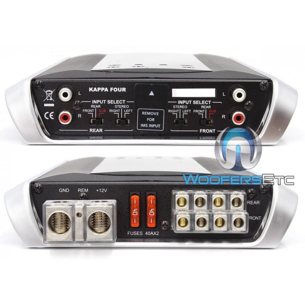 kappa four infinity kappa 4 channel 600 watt amplifier. Black Bedroom Furniture Sets. Home Design Ideas