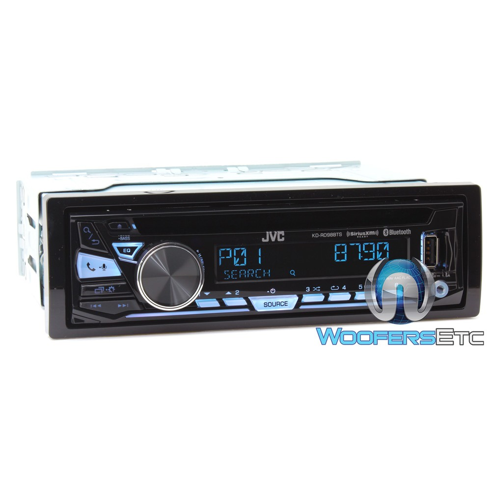 jvc kd rd98bts in dash 1 din bluetooth cd stereo receiver. Black Bedroom Furniture Sets. Home Design Ideas