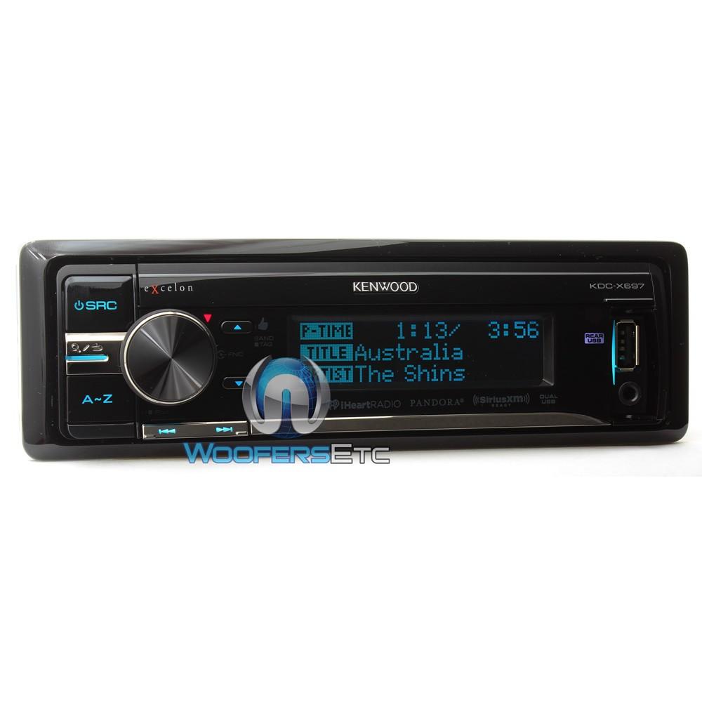 kdc x697 kenwood excelon 1 din cd mp3 stereo receiver. Black Bedroom Furniture Sets. Home Design Ideas