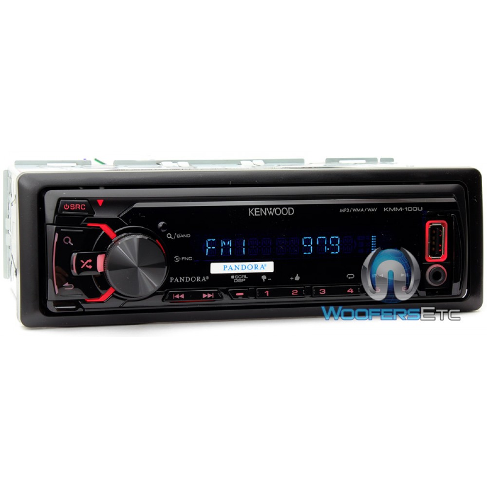 kmm 100u kenwood in dash 1 din mp3 wma car digital media receiver. Black Bedroom Furniture Sets. Home Design Ideas