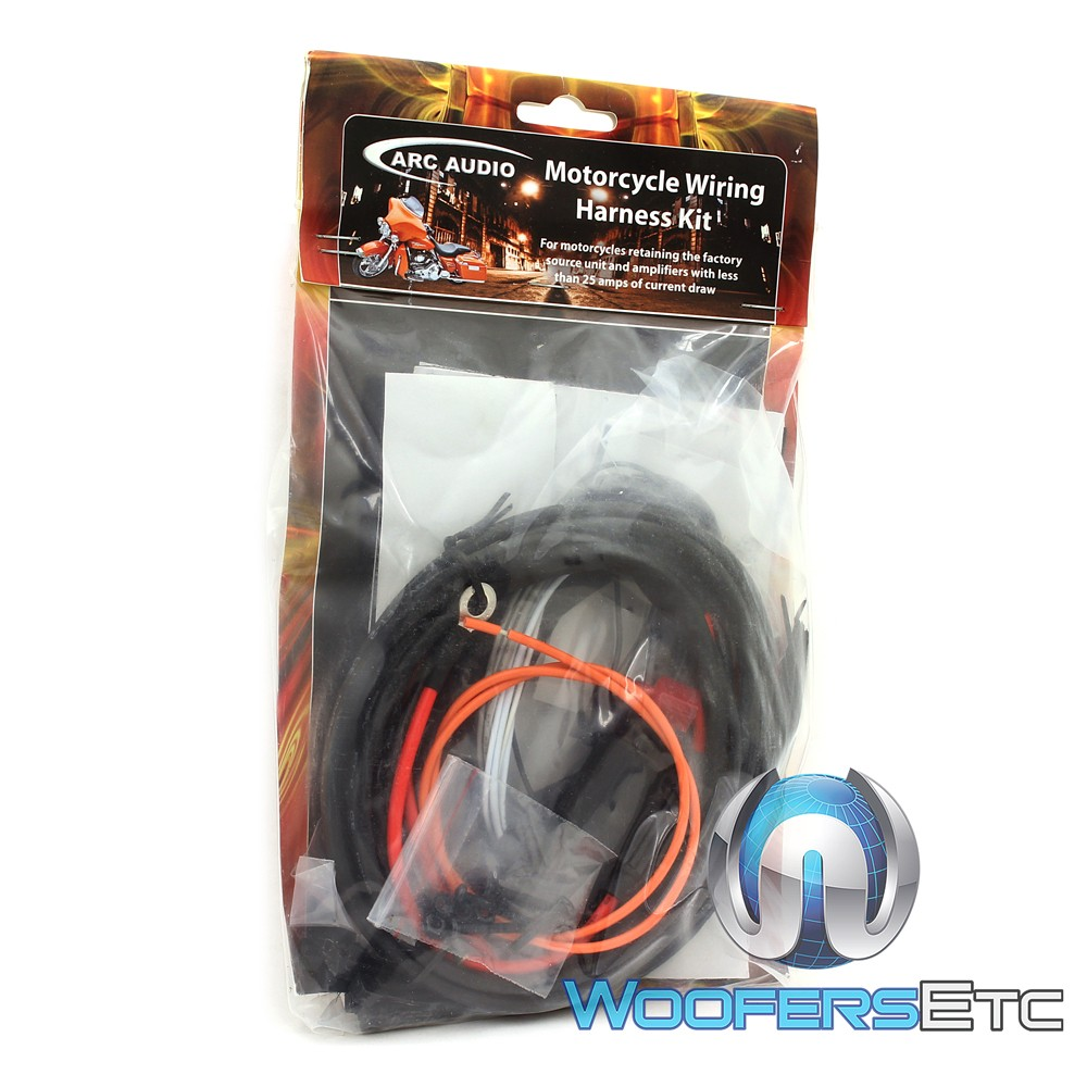 Mpak 12 Arc Audio Motorcycle Kit With 65 Coaxial Speaker Wire Harness Amp Cable Technician Close