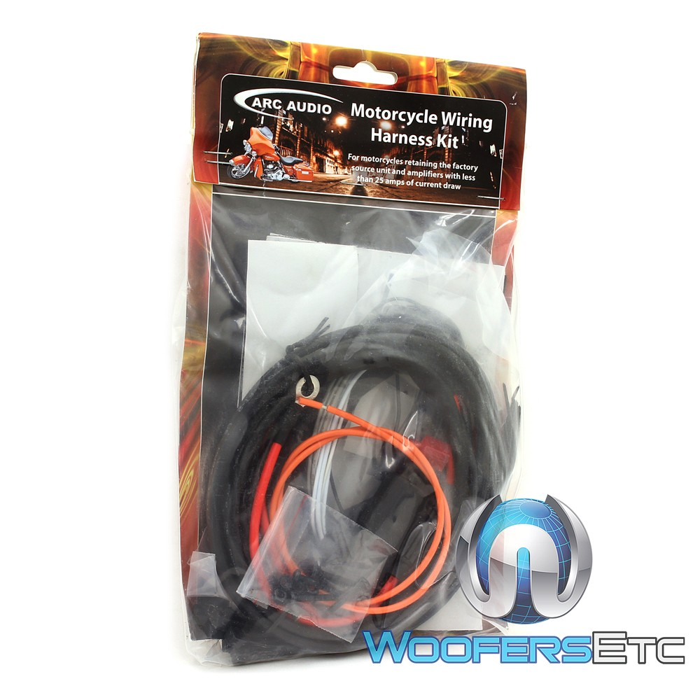 Arc Audio Mpak 8 Motorcycle Kit With Ks1252 2 Channel Wiring Harness Close