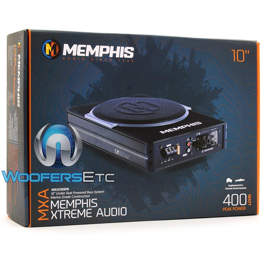 Memphis Mxa110spd Marine 10 200w Rms Enclosed Subwoofer Jl Audio Amp Wiring Kit Marinerated Close