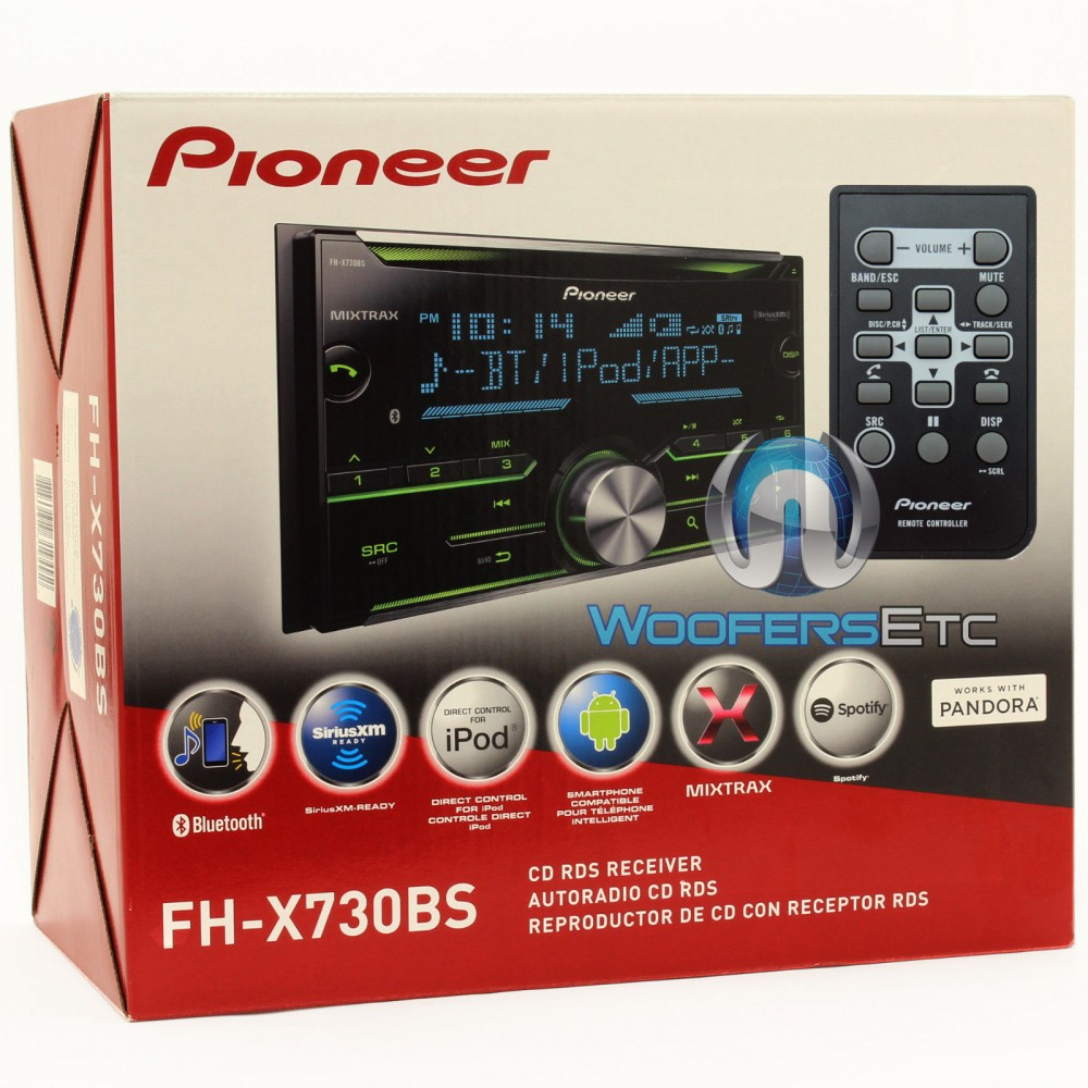 pioneer fh x730bs in dash 2 din cd mp3 bluetooth stereo. Black Bedroom Furniture Sets. Home Design Ideas