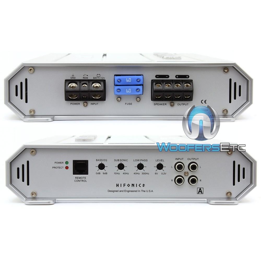 ZRX1816.1D - Hifonics Monoblock 1800W RMS 3600W Max Class D Brutus ...