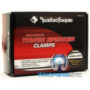 NEW Rockford Fosgate PM-CL1 WHITE  Adjustable Tower Speaker Clamps