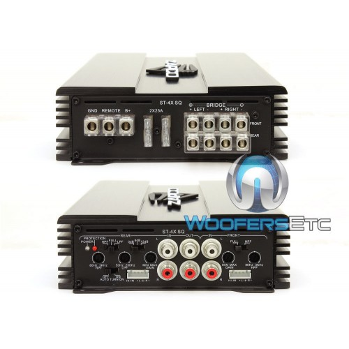 st 4x sq zapco 4 channel 400w rms class ab amplifier