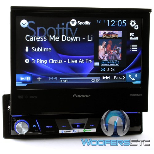 """AVH-X7800BT - Pioneer In-Dash 1-DIN 7"""" Flip-out Touchscreen Display DVD Receiver with Bluetooth ..."""