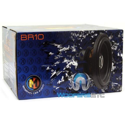 """Memphis Br15d4 15 Sub 800w Car Audio Dual 4 Ohm Subwoofer: Memphis 10"""" 400W RMS Dual 4-Ohm BR Series"""
