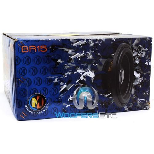 """Memphis Br15d4 15 Sub 800w Car Audio Dual 4 Ohm Subwoofer: Memphis 15"""" 400W RMS Dual 4-Ohm BR Series"""