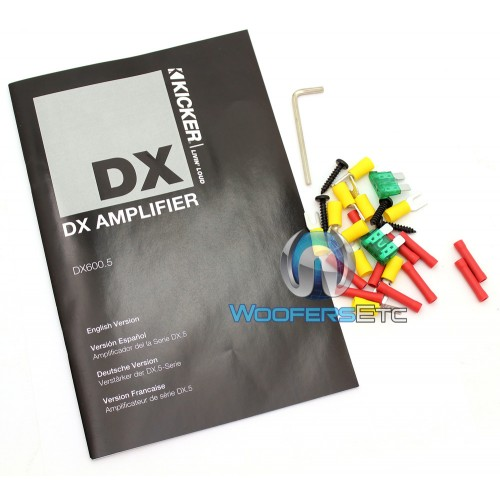 DX600 5 - Kicker 5-Channel 600W RMS Class D DX Series Amplifier