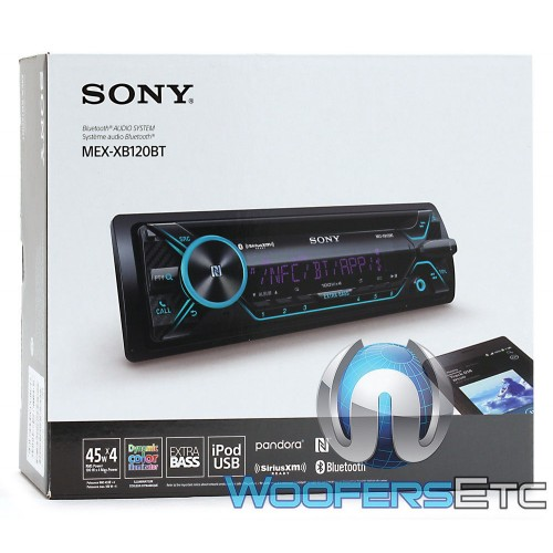 Sony MEX-XB120BT In-Dash 1-DIN USB/CD/MP3 Car Stereo Receiver with