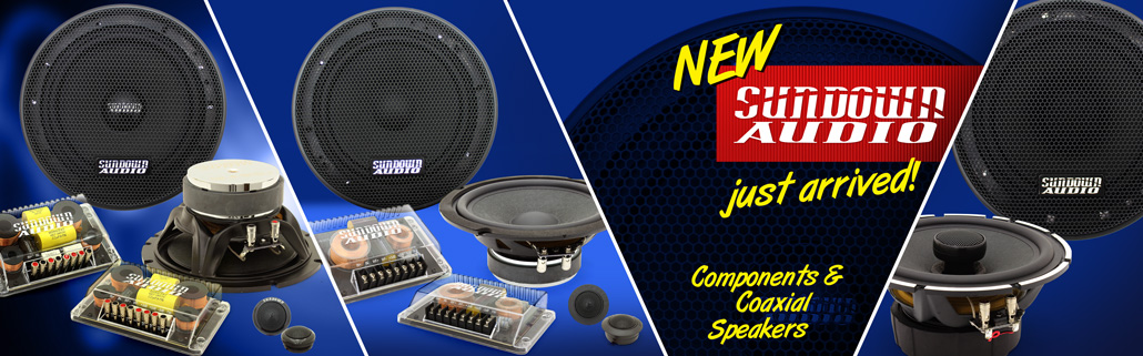 NEW Sundown Audio Component and Coaxial Speakers!