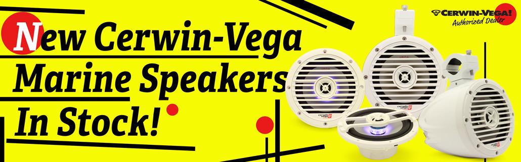 NEW Cerwin Vega Marine Speakers!