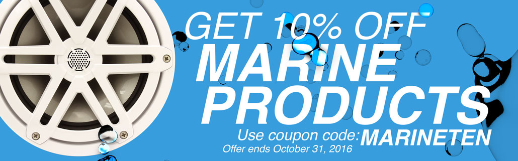 10% Off All Marine Audio at WoofersEtc.com - Coupon Code: MARINETEN