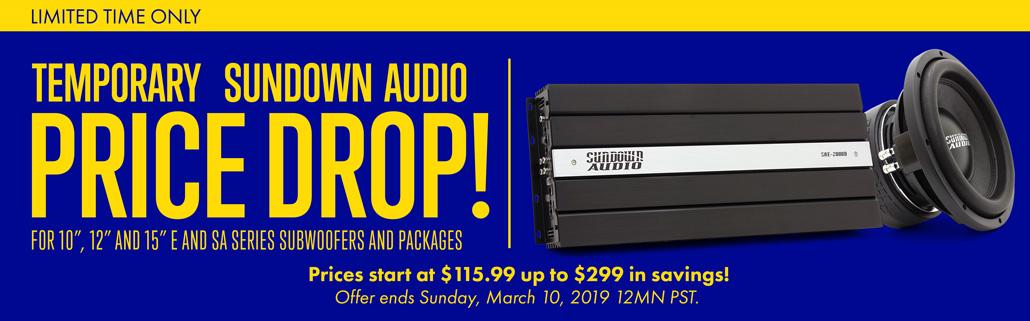 Sundown Audio Price Down