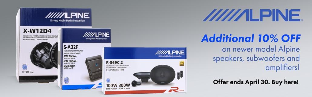 Alpine 10 OFF